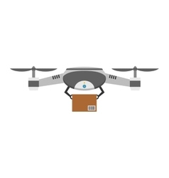 Drone quadcopter isolated vector image