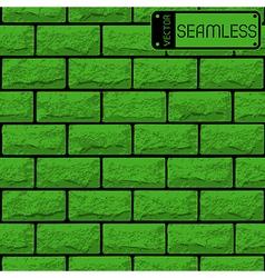 Realistic seamless texture of green brick wall vector image