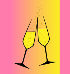 toasting vector image