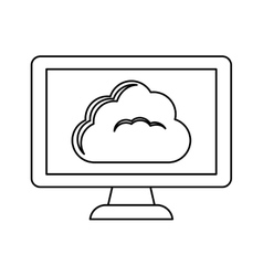 figure database hosting related icon image vector image