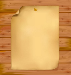 old paper brown wood background vector image vector image