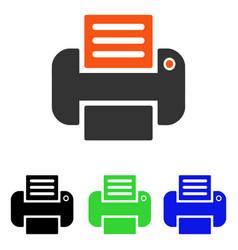 Print flat icon vector