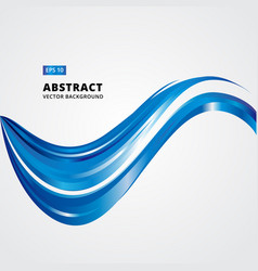 abstract curved lines blue waves vector image vector image