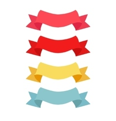 four color ribbon patterns vector image