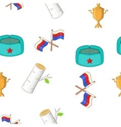 Russia pattern cartoon style vector image