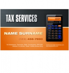 tax services vector image vector image