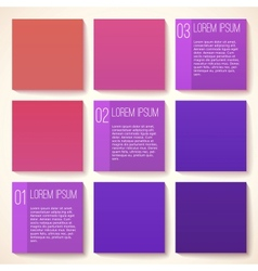 Template for infographic vector image vector image