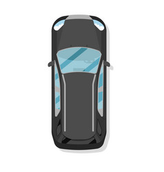top view family hatchback car isolated icon vector image