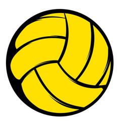 yellow volleyball ball icon icon cartoon vector image vector image