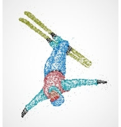 Abstract skier freestyle vector image
