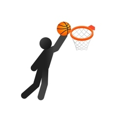 Basketball isometric 3d icon vector image
