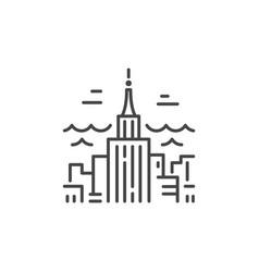 city line icon vector image vector image