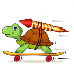 fast turtle vector image