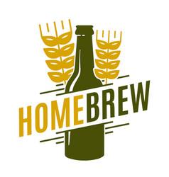 homebrew logo template emblem design vector image