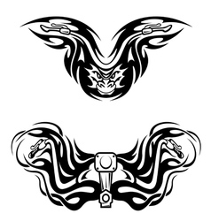 Motorcycles mascots with tribal flames vector image vector image