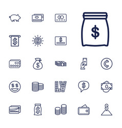 22 cash icons vector