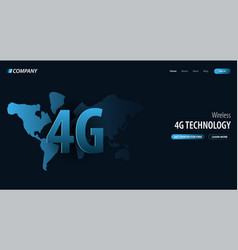 4g new wireless internet wifi connection website vector