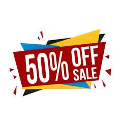 50 off sale banner design vector image
