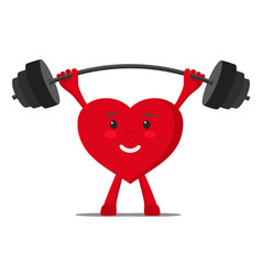 a healthy heart raises the bar with weights vector image