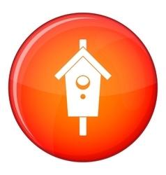 Birdhouse icon flat style vector
