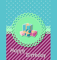 birthday card holiday template vector image