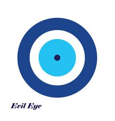 Blue evil eye - evil eye logo vector