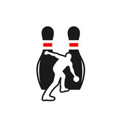 bowling ball sport modern logo vector image
