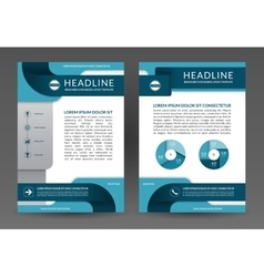 Brochure annual report layout template vector