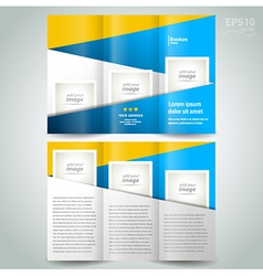 brochure design template geometric abstract elemen vector image