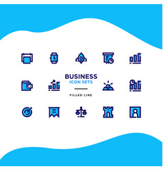 business and finance icon sets vector image