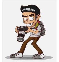 cartoon character photographer vector image