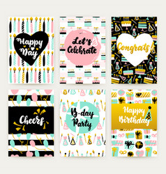 celebration greeting posters vector image