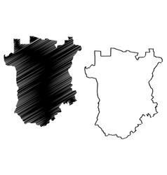 Chechnya map vector