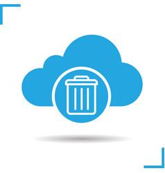 cloud storage trash icon vector image
