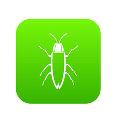 cockroach icon digital green vector image