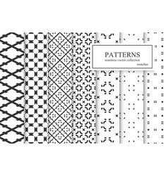 Collection ornamental seamless geometric vector