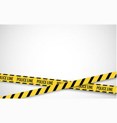 crime line tape police danger caution vector image