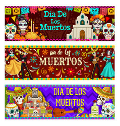 day dead dia de los muertos holiday in mexico vector image