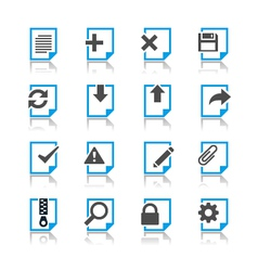 Document icons reflection vector