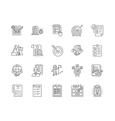 done line icons signs set outline vector image