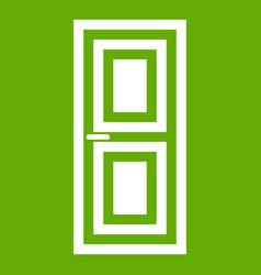 door icon green vector image