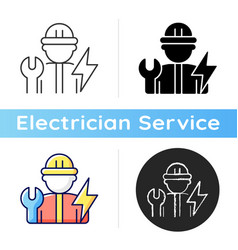 Electrician icon vector