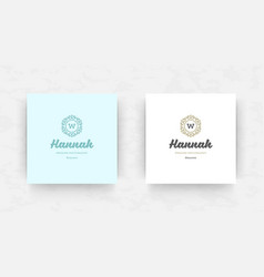 elegant brand logo design template vector image