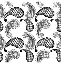 Ethnic seamless pattern with geometric elements vector image