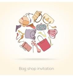 Fashion invitation card vector