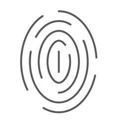 fingerprint thin line icon scan and thumbprint vector image