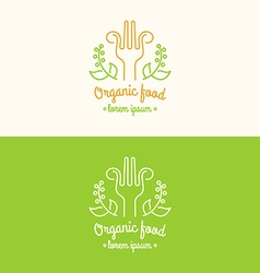 Food logo vector image