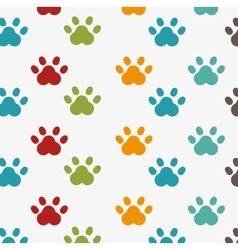 footprint seamless pattern design vector image