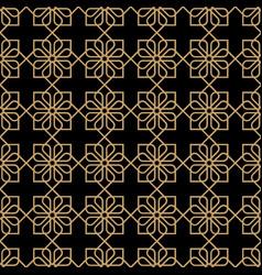 Geometric dark seamless flower pattern vector
