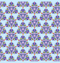 Geometric pattern in moroccan style on a blue vector